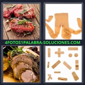 4 Fotos 1 Palabra - cinco-letras comida curitas, Medias leotardos calcetas, Tiritas o curitas