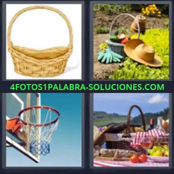 4 Fotos 1 Palabra - seis-letras canasta, Canasto, Baloncesto, Picnic
