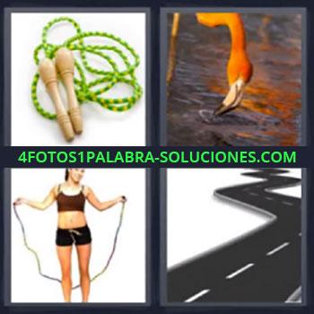 4 Fotos 1 Palabra - ocho-letras flamenco cuerda carretera