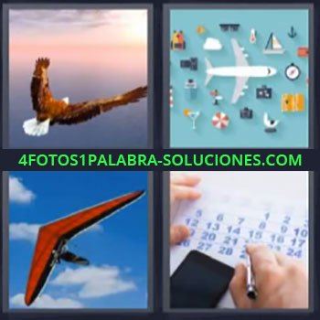 4 Fotos 1 Palabra - seis-letras águila delta avión, Avión de juguete, Ala delta, Parapente, Calendario