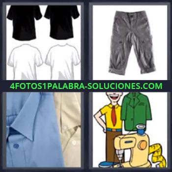 4 Fotos 1 Palabra - siete-letras camisas pantalon, Camisetas, Playeras, Dibujo con maquina de coser