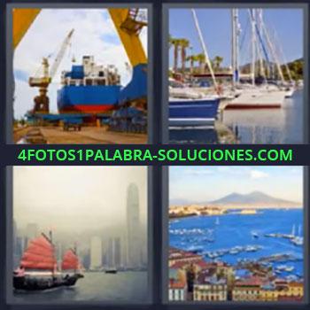 4 Fotos 1 Palabra - cinco-letras buque de carga. Barcos veleros. Barco antiguo. Barcos de pesca.