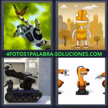 4 Fotos 1 Palabra - ocho-letras extraterrestre, Marciano, Alienígena, Maquina, Brazo mecanizado