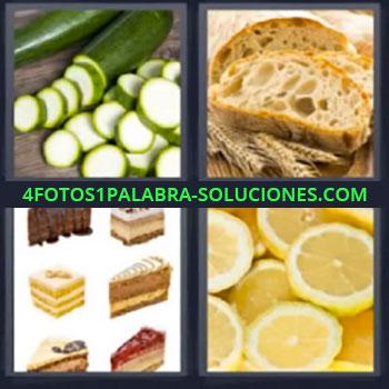 4 Fotos 1 Palabra - siete-letras calabaza pan, Calabacin, Pasteles, Pays dulces, Limon, Limones