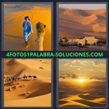 4 Fotos 1 Palabra - siete-letras desierto, Desierto árabe, Dunas, Camello