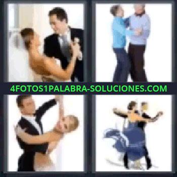 4 Fotos 1 Palabra - siete-letras bailar, Novios bailando, Ancianos bailando, Pareja de baile, Bailarines.
