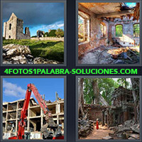 4 Fotos 1 Palabra - Restos de Iglesia, Casa en Ruinas |