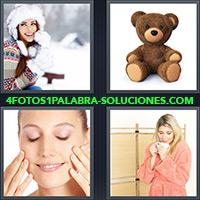 4 Fotos 1 Palabra - Oso de felpa o peluche |