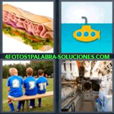 4 Fotos 1 Palabra - Cuarto De Calderas Submarino Niños Sandwich |