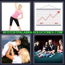 4 Fotos 1 Palabra - Grafico Chica Haciendo Deporte Chico Ganando En El Casino Mama Con Bebe |