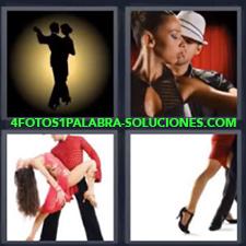 4 Fotos 1 Palabra - Baile Bailar Mujer Y Hombre De Rojo Bailando Pareja Bailando Pasos De Baile |