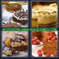 4 Fotos 1 Palabra - Pastel Panqueque Pastel Con Frambuesas Pasteles De Chocolate Trozo De Tarta |