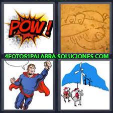 4 Fotos 1 Palabra - Cómic Dibujo Superman Viñeta De Cómic |
