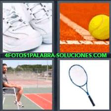 4 Fotos 1 Palabra - Pelota De Tenis Pista O Cancha Deportiva Raqueta Zapatillas Deportivas |