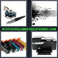 4 Fotos 1 Palabra - Cartuchos de impresora, Impresora |