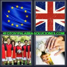 4 Fotos 1 Palabra - Bandera Europa Bandera Reino Unido Boda Equipo De Futbol |