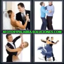 4 Fotos 1 Palabra - 4 Letras: Bailar, Novios Bailando, Ancianos Bailando, Pareja De Baile, Bailarines. |