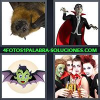 Murciélago o murceguillo, Conde Drácula, Dibujo de un murciélago volando, Mujeres con colmillos