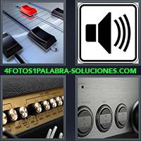 Mesa o consola de mezcla de sonido, Ícono de volúmen, Amplificador de sonido, Consola de sonido